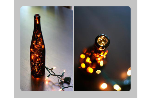 Beer bottles and hurricanes journey to i do for Beer bottle decoration ideas