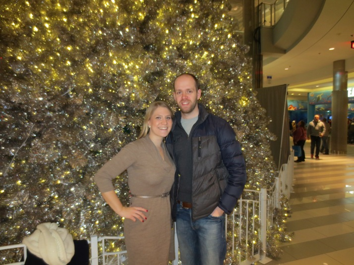 This is us at the MOA right before Christmas looking like us.  Thank goodness for bronzer!