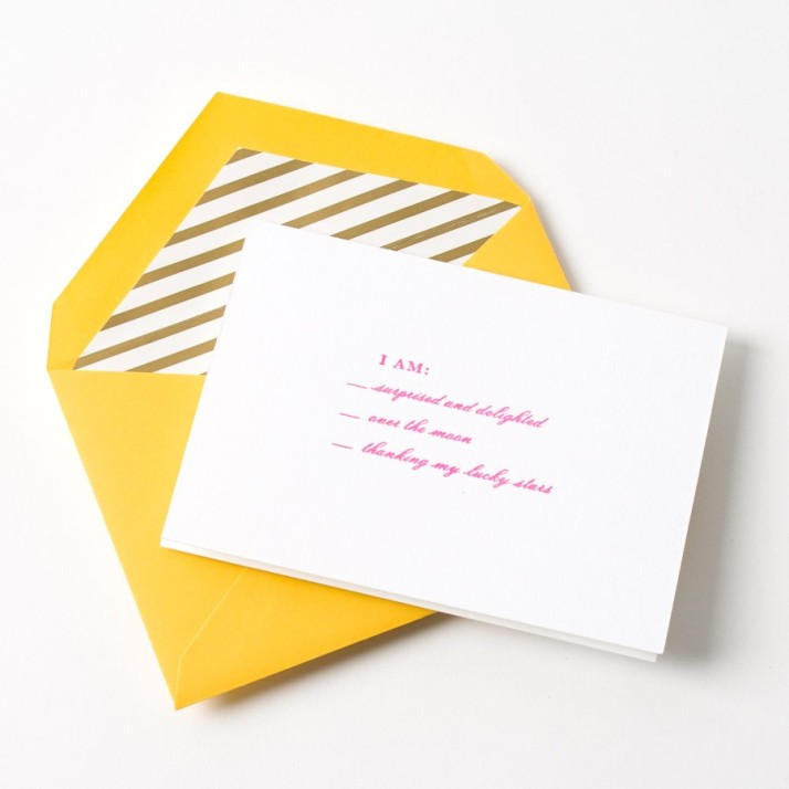 one of my favorite Kate Spade thank you cards/ image via Papyrus