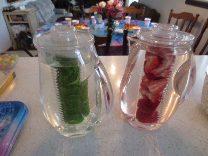 Flavored water anyone? I need to get myself a pair of these pitchers!